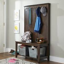Entryway Storage Bench With Coat Rack Ebay Entryway Foyer Coatrack Bench Trgn 7644bfbf2521