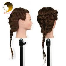 hairstyles to do on manikin hairdresser mannequin head with 100 human hair doll for