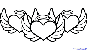 Hearts With Wings - articles with hearts with wings and halo coloring pages tag