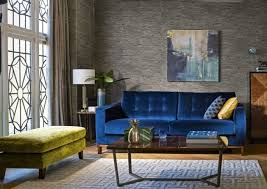 deep blue velvet sofa six sofas beautiful foundations