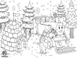 printable pictures ice house snow winter colouring pages for