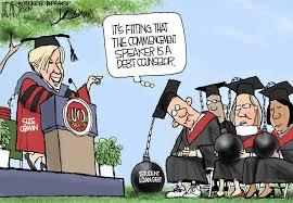 student loan debt hurts economy editorial cartoon cleveland com