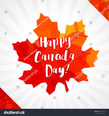 Canada Flag Colors Happy Canada Day Vector Greetings Canadian Stock Vector 663242050