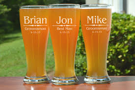 etched glass vase personalized 8 groomsmen pilsner glasses personalized beer glass engraved