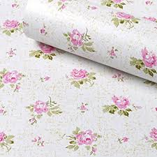 Kitchen Cabinet Contact Paper Amazon Com Simplelife4u Pink Rose Contact Paper Removable Shelf