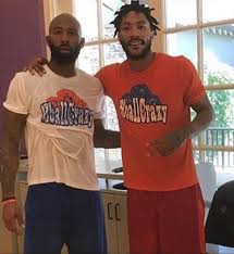 derrick rose working his new dreads out in los angeles terez