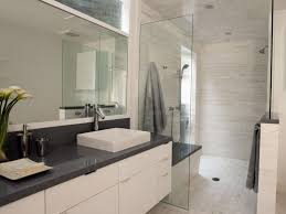Modern Bathroom Storage Small Bathroom Design Used Shower Door Glass Beside Towel Bars In