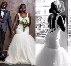 2017 cheap african vintage mermaid white lace wedding dresses