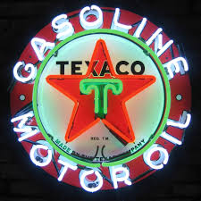 antique gas station lights for sale texaco motor oil neon sign vintage style gasoline sign texaco star