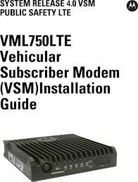 92ft7058 vml750 rf data radio modem user manual manual motorola