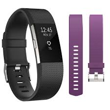 Small 2 by Fitbit Charge 2 Activity Tracker Bundle Small