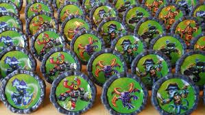 Skylander Favors by 24 Skylanders Giants Trap Team Cupcake Favor