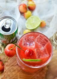 cherry lime tequila cocktail wonkywonderful