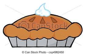 vector clipart of thanksgiving pie fresh pumpkin pie with