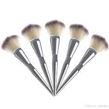 sale face makeup blush powder brush silver color handle