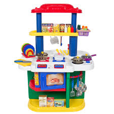 Kitchen Set Deluxe Children Kitchen Cooking Pretend Play Set With Accessories