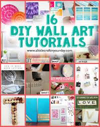 home decorations outlet 16 diy wall art tutorials a little craft in your daya loversiq