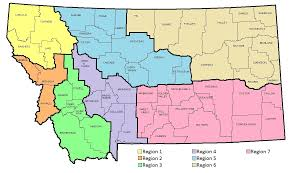 Montana County Map by Child Care Resource And Referral