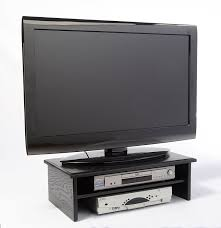 tv placement amazon com black triple tier tv riser other products
