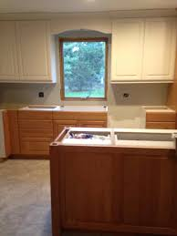 Two Tone Kitchen Walls Two Tone Wood Kitchen Cabinets Best Home Decor