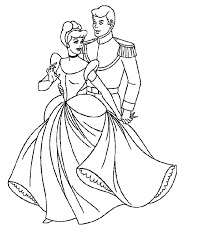 prince love cinderella coloring pages for kids cartoon coloring