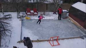 building a backyard rink in 87 seconds youtube