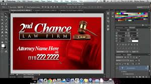 how to create a business card in adobe photoshop youtube