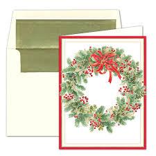 caspari cards caspari personalized wintergreen wreath christmas cards paperstyle