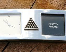 Small Desk Photo Frames Triangle Clock Etsy