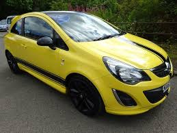vauxhall yellow 2013 vauxhall corsa limited edition 4 995