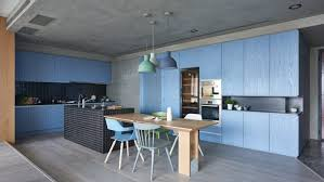 Family Kitchen Design Ideas Blue And Green Family Kitchen Design In Creative Modern Family
