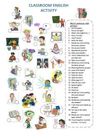 classroom language interactive and downloadable worksheet check