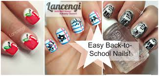 back to nails three easy designs youtube