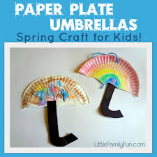 little family fun paper plate umbrellas spring craft for kids