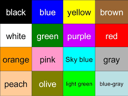 color blue green color guessing game