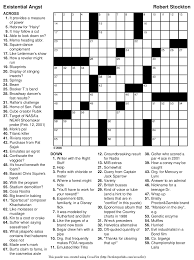 printable easy crossword puzzles with solutions beekeeper crosswords blog archive puzzle 97 existential angst