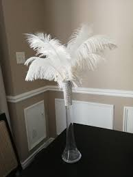 promo clear 16 ostrich feather centerpiece kits with