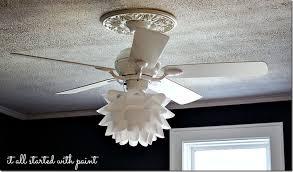 white ceiling fan light kit flower ceiling fan decoration lofihistyle com flower ceiling fan