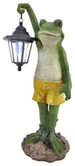solar frog light solar light garden decor home design and decorating