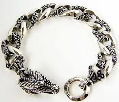 silver bracelet jewelry images Sterling silver dragon bracelet ebay JPG