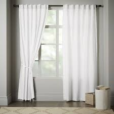 Tab Top Curtains Blackout Linen Cotton Curtain Stone White West Elm