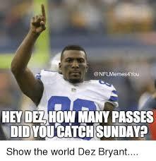 Dez Bryant Memes - nfl memes4you hey delho many passes didyo catchisunday show the