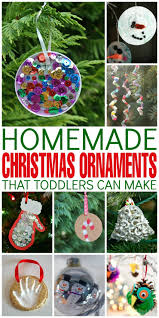 homemade christmas ornaments that toddlers can make frugal mom eh
