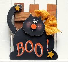 halloween black cat shelf sitter halloween decor wood cat