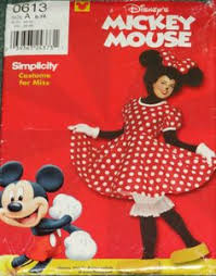 Disney Halloween Costume Patterns Simplicity Pattern 7730 Minnie Mouse Costume Sewelementary