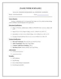 free resume templets document resume format