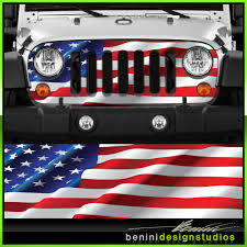 jeep grill skin jeep wrangler grill vinyl wrap skin decal american flag 2007 2008