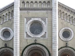 architecture facade with ornaments building and