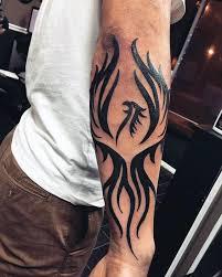 black tribal on right arm sleeve