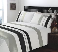 King Size Duvets Covers Bedroom Ripple And Plain Stripe Grey And White Duvet Covers King